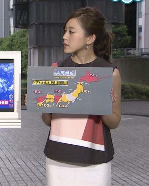 古谷有美 ノースリーブ&タイトスカートキャプ画像(エロ・アイコラ画像)