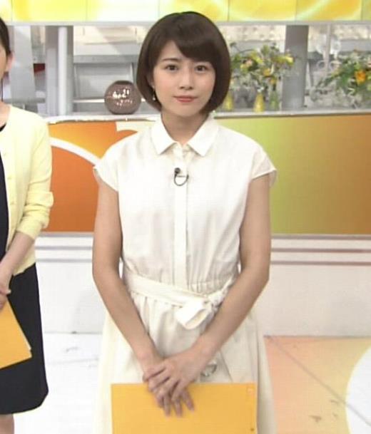 田中萌 白いワンピースキャプ画像(エロ・アイコラ画像)