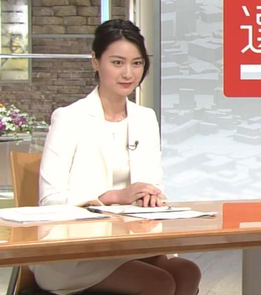 小川彩佳 選挙特番でもミニスカ太もも見せ過ぎ!キャプ画像(エロ・アイコラ画像)