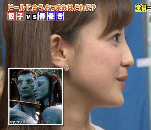 宮司愛海 「鼻がアバターみたいだ」と言われる…キャプ画像(エロ・アイコラ画像)