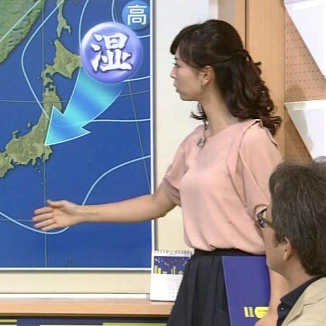 三宅惇子 首が長くてニコニコ実況で「キリン」と実況されるNHK気象予報士キャプ画像(エロ・アイコラ画像)