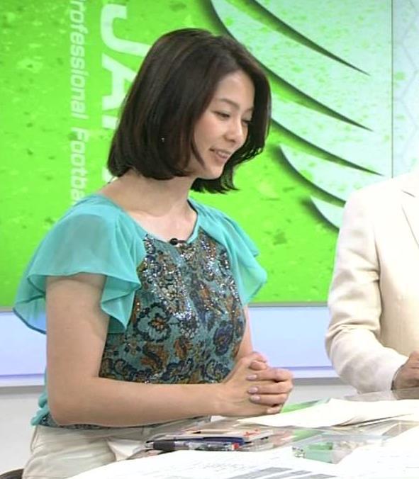 杉浦友紀 今週はおとなしめの巨乳(サタデースポーツ)キャプ画像(エロ・アイコラ画像)