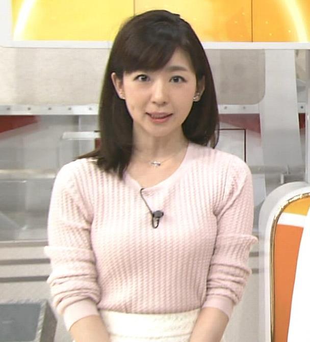 松尾由美子 巨乳ニット女子アナキャプ画像(エロ・アイコラ画像)