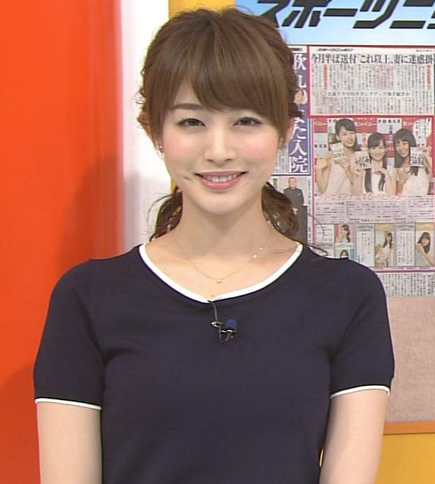 新井恵理那 Tシャツおっぱいキャプ画像(エロ・アイコラ画像)