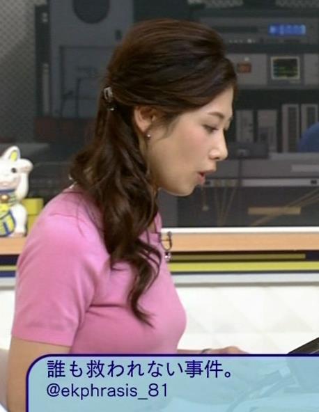 桑子真帆 Tシャツ横乳がエロいキャプ画像(エロ・アイコラ画像)