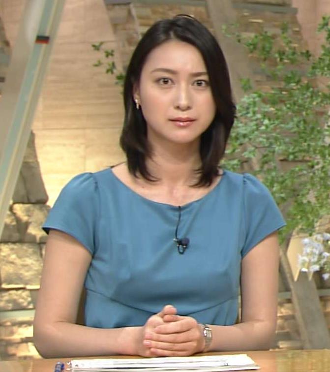 小川彩佳 「乳首が透けている!」ように見えるキャプ画像(エロ・アイコラ画像)