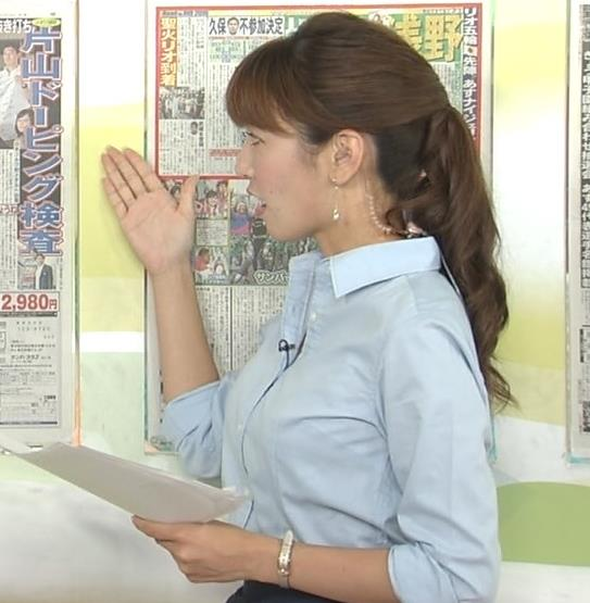 小澤陽子 ワイシャツ巨乳横乳がエロいキャプ画像(エロ・アイコラ画像)