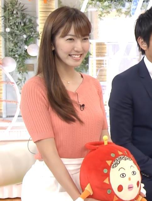 小澤陽子 巨乳ニットおっぱいキャプ画像(エロ・アイコラ画像)