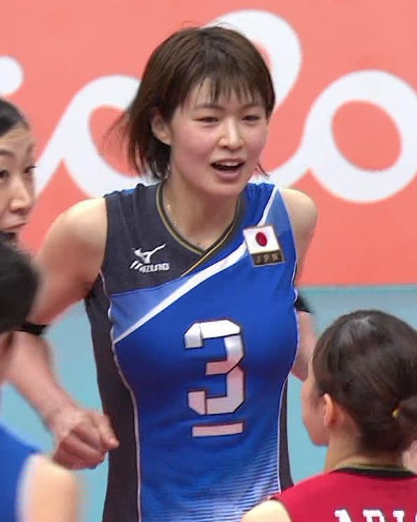 木村沙織 オリンピックでも巨乳がすごかったキャプ画像(エロ・アイコラ画像)