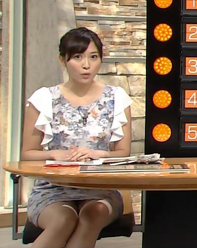 久冨慶子 ほぼパンチラのニュース番組キャプ画像(エロ・アイコラ画像)