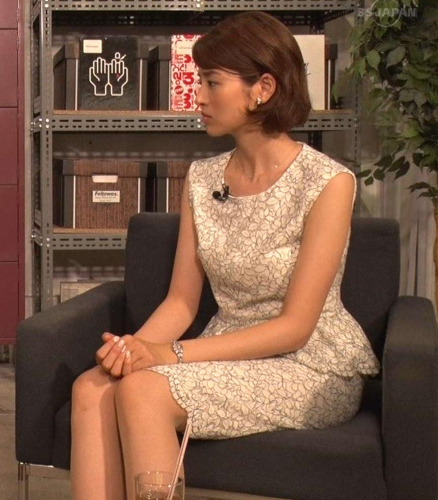 鈴木ちなみ スタイルがいいのがわかるノースリーブのワンピースキャプ画像(エロ・アイコラ画像)