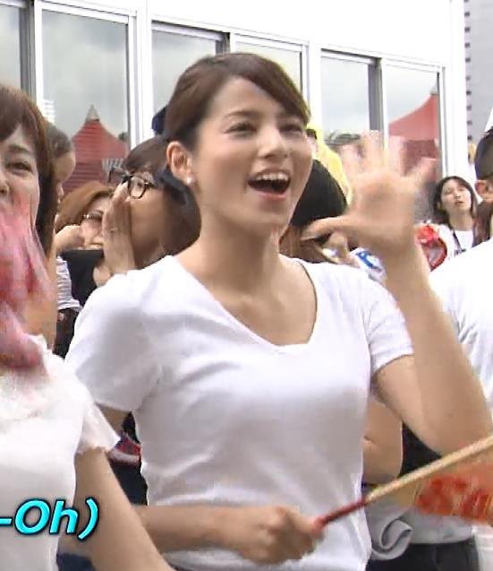 永島優美 Tシャツおっぱいキャプ画像(エロ・アイコラ画像)