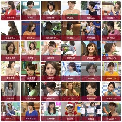 女子アナ(放送局別)キャプ画像(エロ・アイコラ画像)