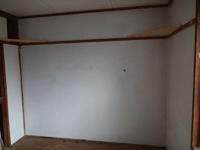 某公舎壁シックイ補修