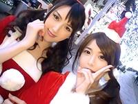 サンタコスが似合う美女2人組と聖夜のハーレム3P